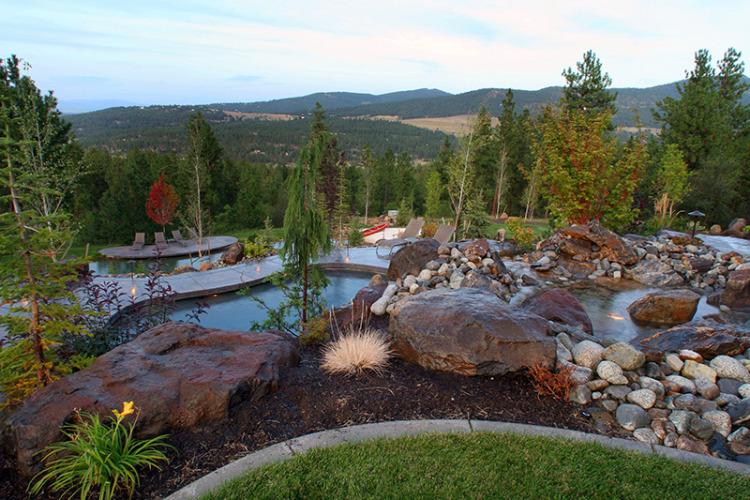 Landscape Boulders Spokane : Panoramic views in liberty lake